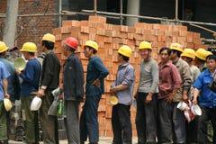 Bauarbeiter in Peking Stockfotos