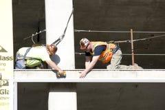Bauarbeiter, Teamarbeit stockfotografie