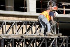 Bauarbeiteraus dem programm nehmen Stockbilder