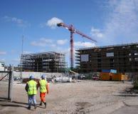 Bauarbeitergehen Lizenzfreies Stockbild
