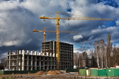 Bauarbeitsite Stockfoto