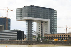 Bauarbeitsite in Frankfurt, Deutschland Lizenzfreies Stockbild