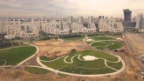Baubereichs-Stadtpark in der Stadtnachbarschaft Baupark in der Stadt stockbild