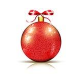 Bauble рождества глянцеватый красный стоковая фотография rf