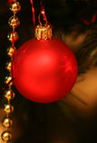 Bauble. A red christmas ornament Royalty Free Stock Photos