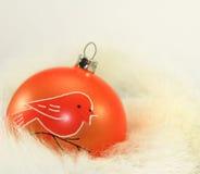 Bauble alaranjado do Natal Imagens de Stock