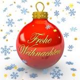 Bauble alemão do Natal Imagem de Stock