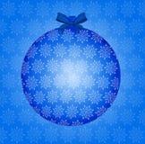 Bauble azul do Natal Imagens de Stock Royalty Free