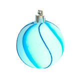 Bauble azul do Natal. fotos de stock