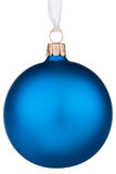 Bauble azul vibrante do Natal Fotografia de Stock Royalty Free