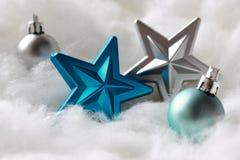 bauble błękitny bożych narodzeń składu szkło Obrazy Stock