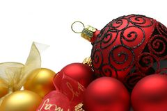 Bauble Border Royalty Free Stock Photography