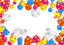 Bauble border Stock Images