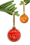 Bauble and Branch Royalty Free Stock Photo