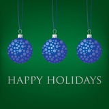 Bauble Christmas Card Stock Images
