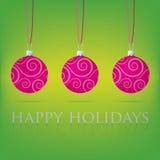 Bauble Christmas Card Royalty Free Stock Photos