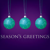 Bauble Christmas Card Royalty Free Stock Photo