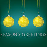 Bauble Christmas Card Royalty Free Stock Photography