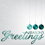 Bauble Christmas Card Stock Photography