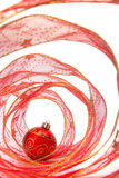 Bauble and Christmas Ribbon Stock Photography
