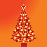 Bauble  christmas tree Stock Images