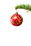 Bauble on the Christmas tree Royalty Free Stock Images