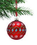 Bauble and Christmas tree Royalty Free Stock Images