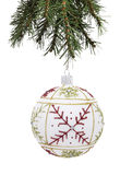 Bauble and Christmas tree Stock Photos