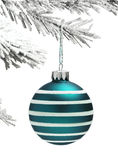 Bauble and Christmas tree Royalty Free Stock Photography