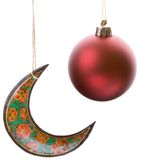 Bauble and Crescent Royalty Free Stock Photos