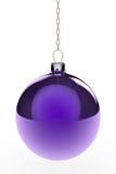 Bauble de suspensão roxo do Natal Imagem de Stock Royalty Free