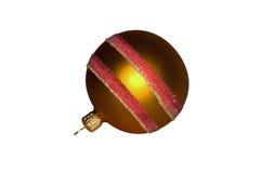 Bauble de vidro dourado do Natal Fotos de Stock