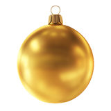Bauble decoration golden sphere icon.Christmas ball New Year Royalty Free Stock Images