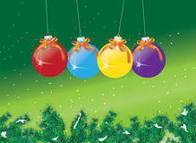 Bauble Decorations Stock Images