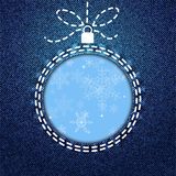 Bauble denim cutout Stock Photography