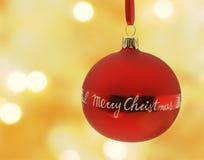 Bauble do Feliz Natal fotografia de stock