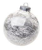 Bauble do Natal no branco Imagens de Stock Royalty Free