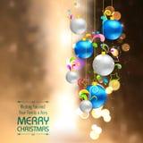 Bauble do Natal no fundo abstrato Imagens de Stock Royalty Free