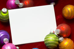 Bauble do Natal ou fundo da esfera foto de stock royalty free