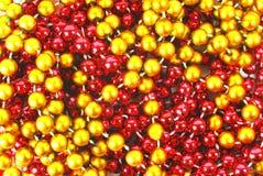 Bauble garland background Stock Photos