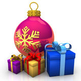 Bauble Gifts Royalty Free Stock Images