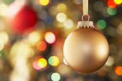 Bauble Hanging On Tree Royalty Free Stock Photography