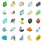 Bauble icons set, isometric style. Bauble icons set. Isometric set of 25 bauble vector icons for web isolated on white background Stock Photography