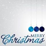 Bauble kartka bożonarodzeniowa Zdjęcia Royalty Free