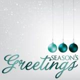 Bauble kartka bożonarodzeniowa Fotografia Stock