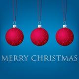 Bauble kartka bożonarodzeniowa Fotografia Royalty Free