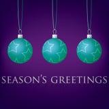 Bauble kartka bożonarodzeniowa Zdjęcie Royalty Free