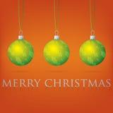 Bauble kartka bożonarodzeniowa Obrazy Royalty Free