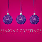 Bauble kartka bożonarodzeniowa Obraz Stock