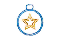 Bauble made of rhinestones Stock Image